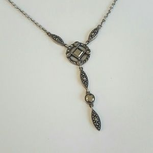 Judith Jack 925 Sterling Silver Marcasite Necklace